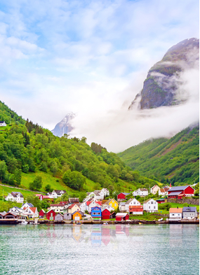 Gudvangen, one of the many charming villages you can visit on a Norway cruise