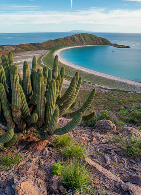 Isla San Francisco photographed at one of the best times to visit Mexico's Sea of Cortez