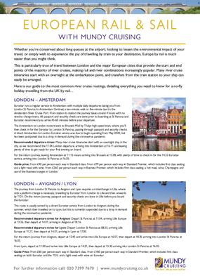European rail and sail river cruise guide