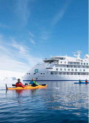 Aurora Expeditions' Greg Mortimer, one of the new generation of more sustainable cruise ships