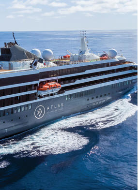 Atlas Ocean Voyages' World Navigator, part of a new generation of luxury expedition cruise ships