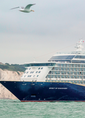 Saga in Dover, one of the best options for a staycation cruise around the UK in summer 2021