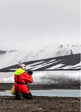 Smartphone photography on a Hurtigruten expedition cruise in Antarctica