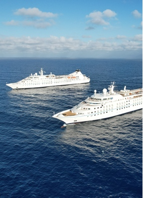 Star Breeze and Star Legend of Windstar, one of the cruise lines resuming in summer 2021