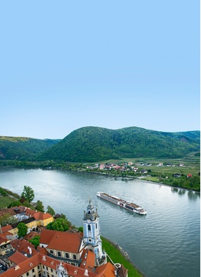 A Viking River Cruises ship in Durnstein, Germany