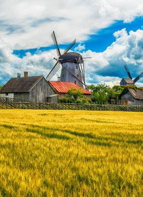 Saaremaa island, Estonia, one of the more unusual places you can visit on a cruise itinerary