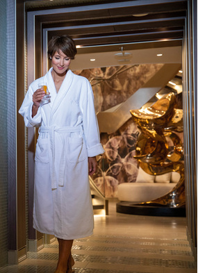The spa on Regent Seven Seas, one of the best cruise ship spas at sea