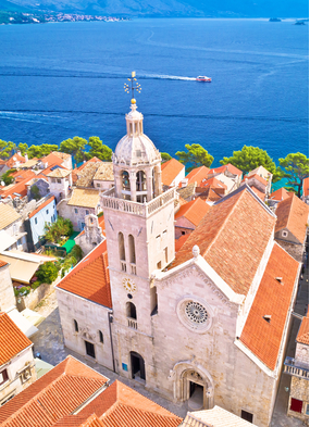 Korcula, one of the highlights of a cruise to Croatia and the Adriatic
