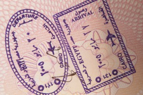 Cairo passport stamp