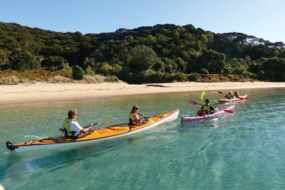 Kayaking in the Bay of Islands, New Zealand