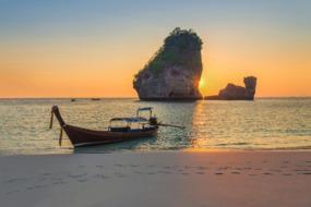 Longtail boat near Krabi
