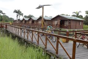 Cycling around Santay Island, Ecuador