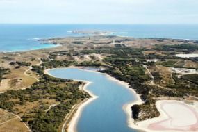 Aerial view of Rottnest Island