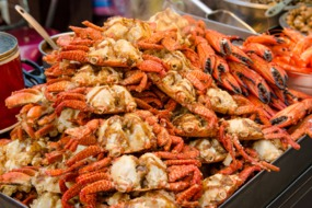 Deep fried crab in Taipei