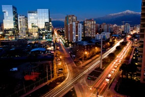 Santiago, Chile by night