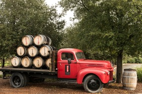 Wine truck in the Napa Valley, California