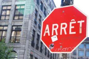 Stop sign in Montréal