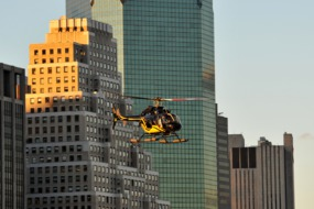 Helicopter over New York