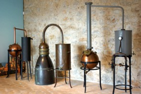 Old stills at Grasse Perfume Centre, France