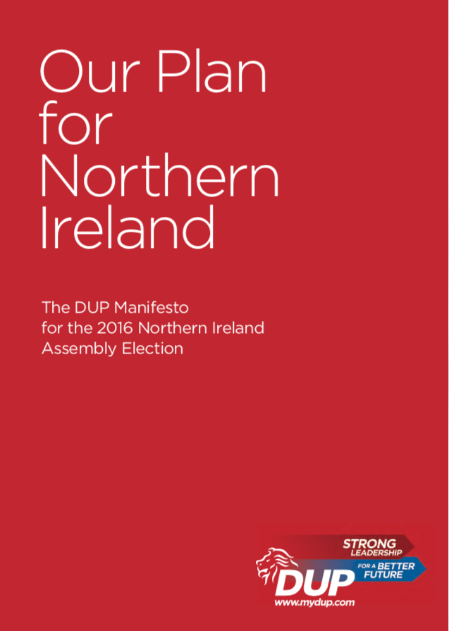 2016 Assembly Manifesto Front