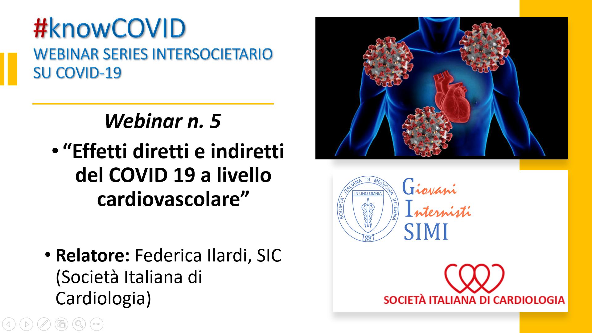 #KnowCovid - Eventi cardiovascolari nel COVID-19