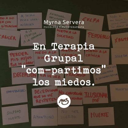 """En Terapia Grupal """"com-partimos"""" los miedos"""