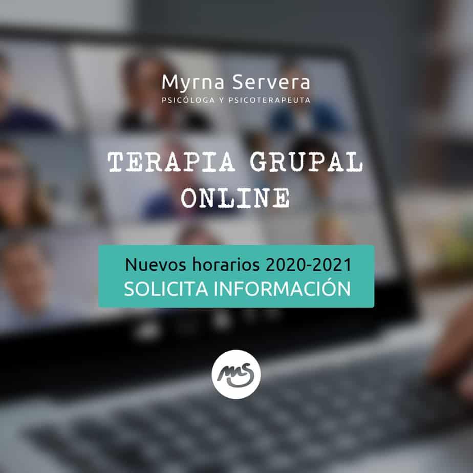 Inicio de Psicoterapia Grupal Online  2020-2021