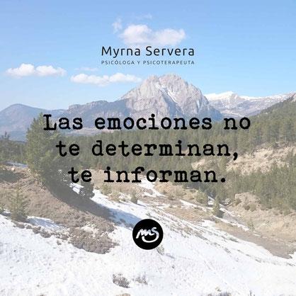 Las emociones no te determinan, te informan