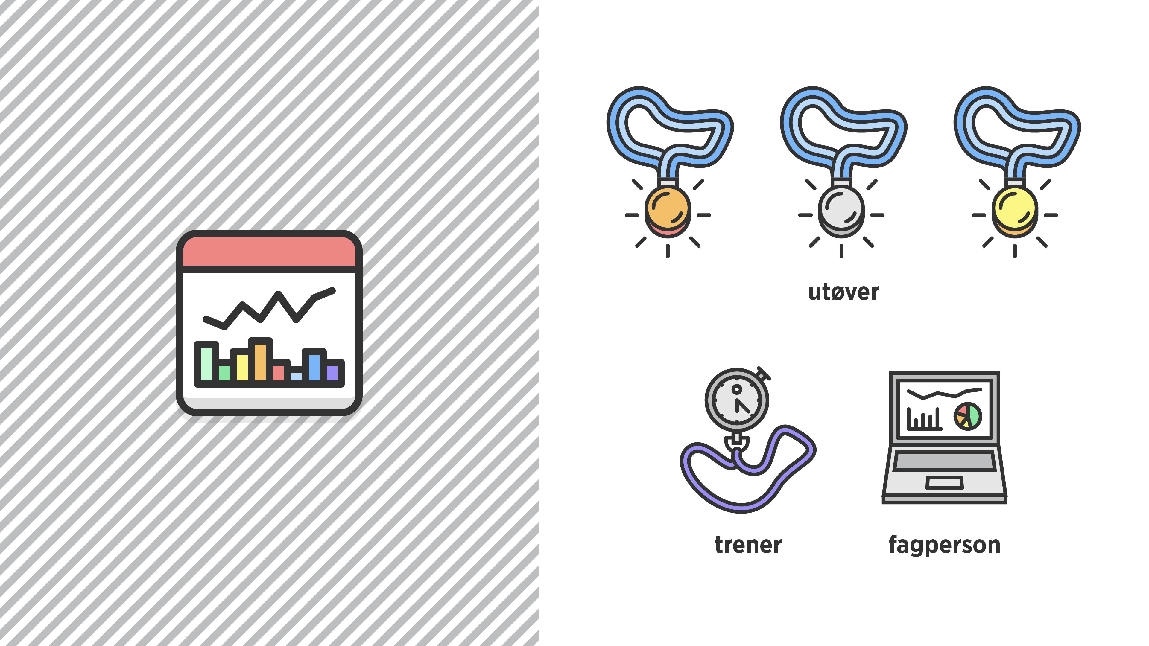App og brukertype ikoner.