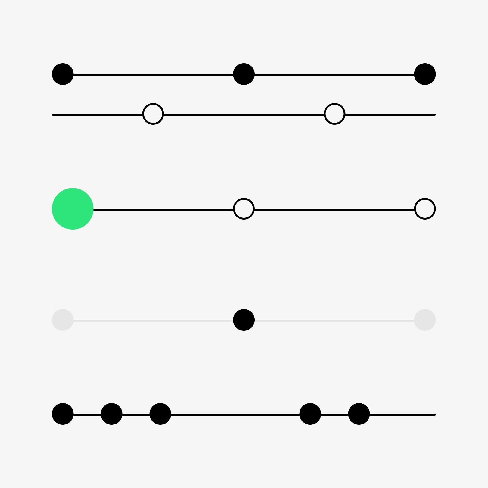 Abstrakt illustrasjon av hvordan fargene kan brukes