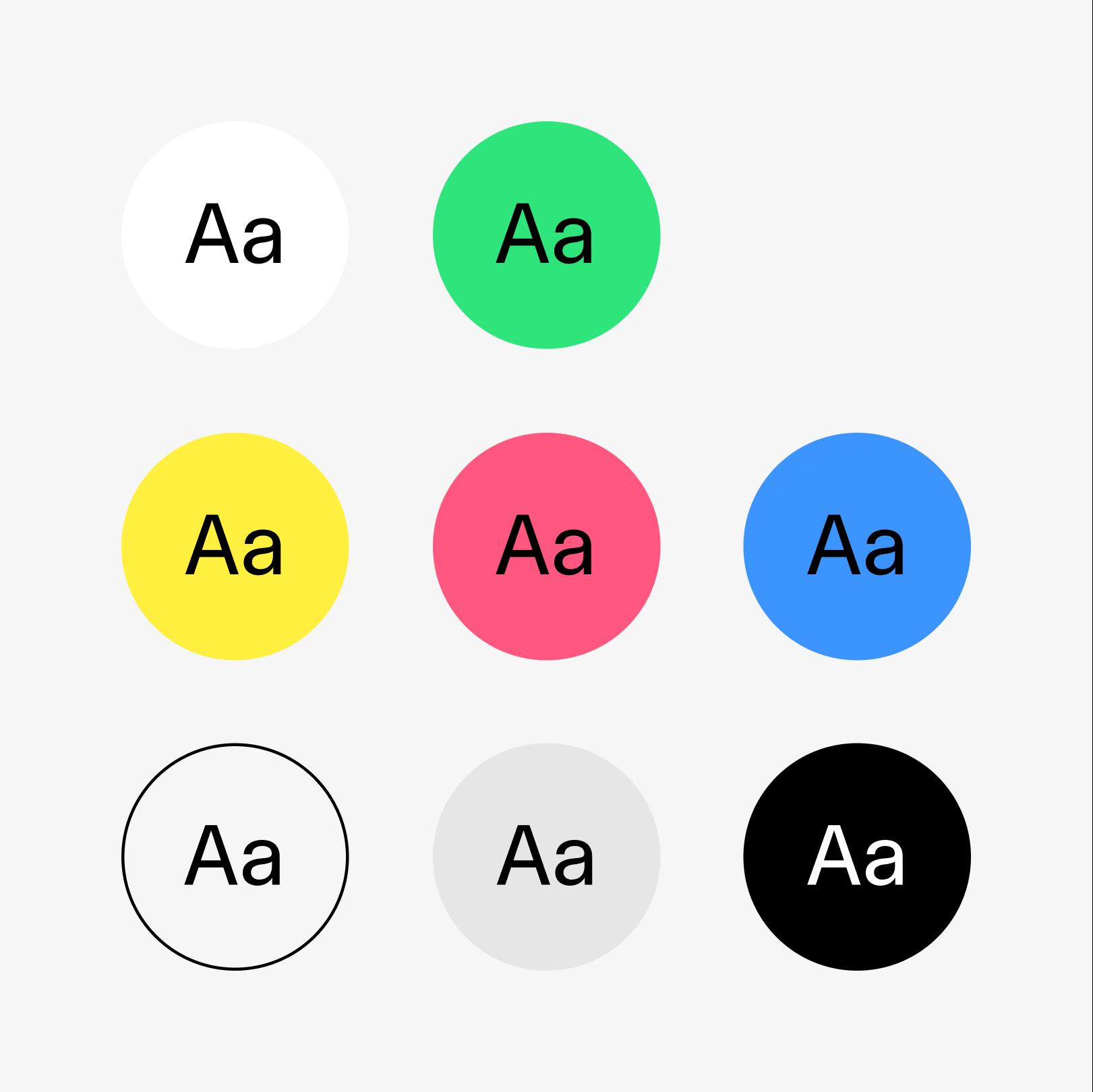 Illustrasjon som viser bruk av svart tekst på farget bakgrunn