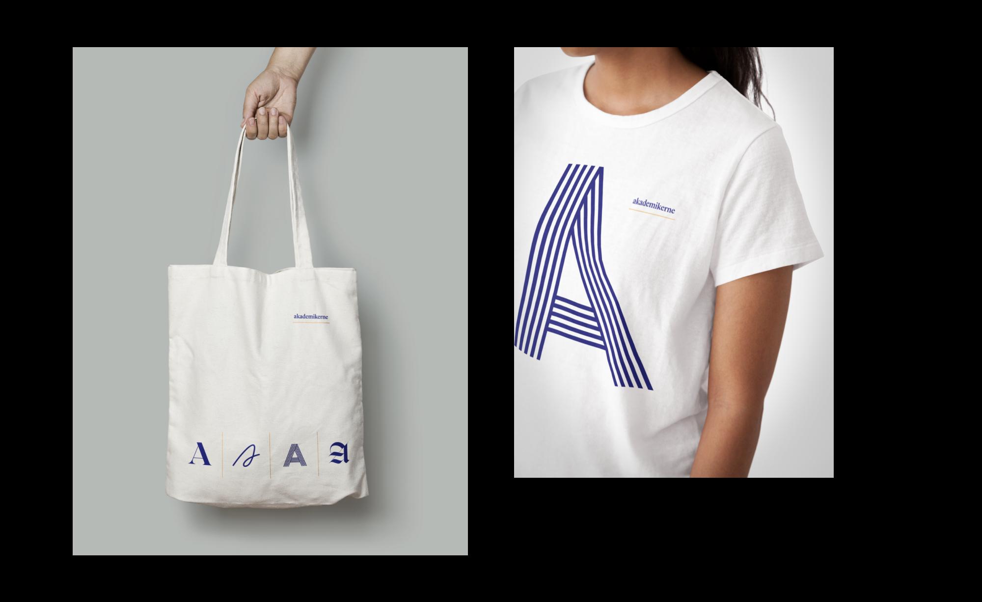 Identiteten tatt ut på handlenett og t-skjorte