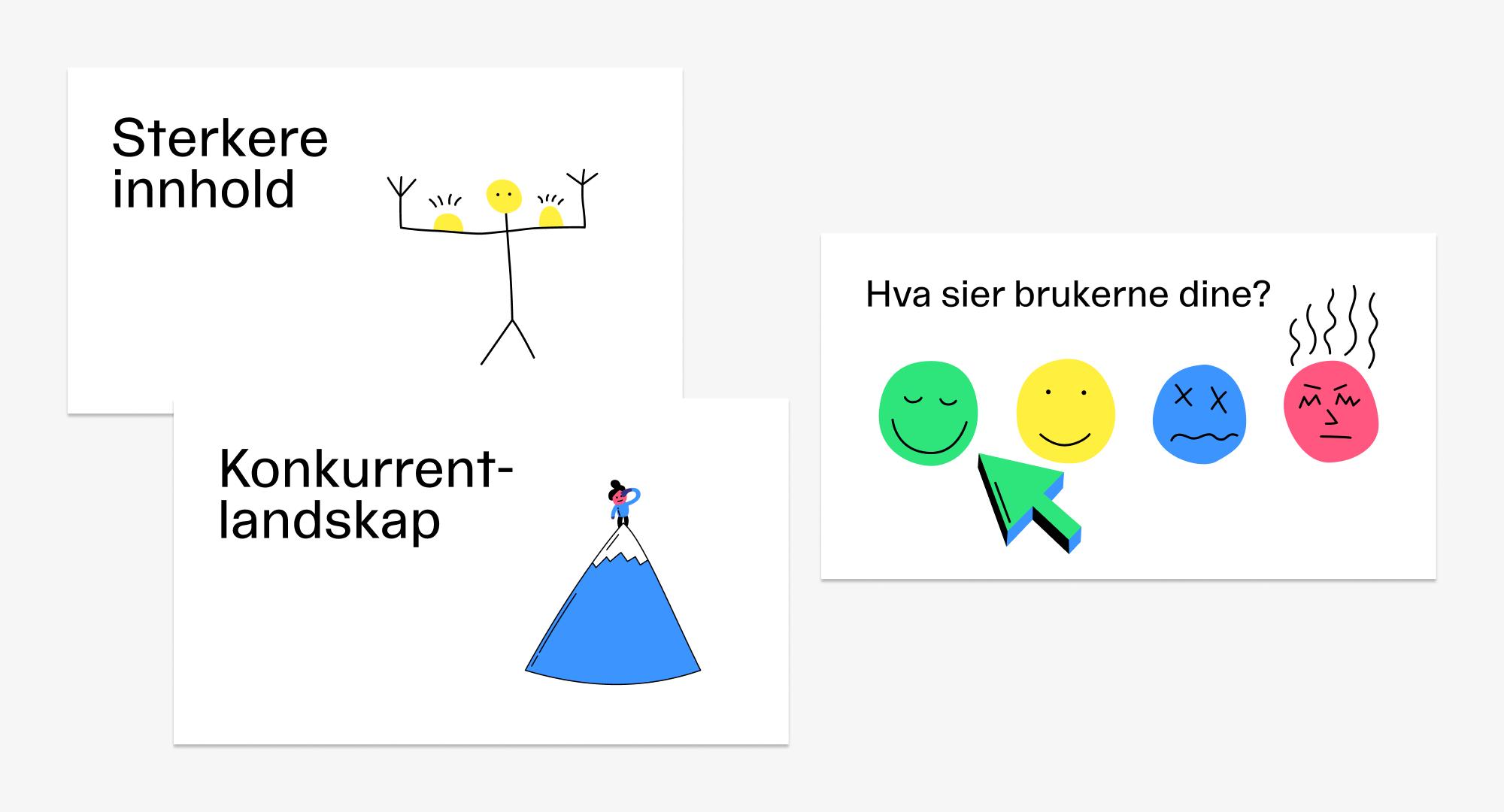 Eksempel på bruk av illustrasjoner i presentasjoner