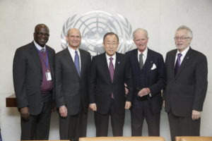 The SG meets with Secretary-General meeting with Elder Ted N.C. Wilson (President, Seventh-Day Adventist Church) and delegation (Including Ambassador Joseph Vernon Reed)