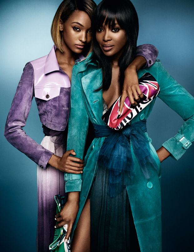 Naomi Campbell and Jourdan Dunn for Burberry X Mario Testino