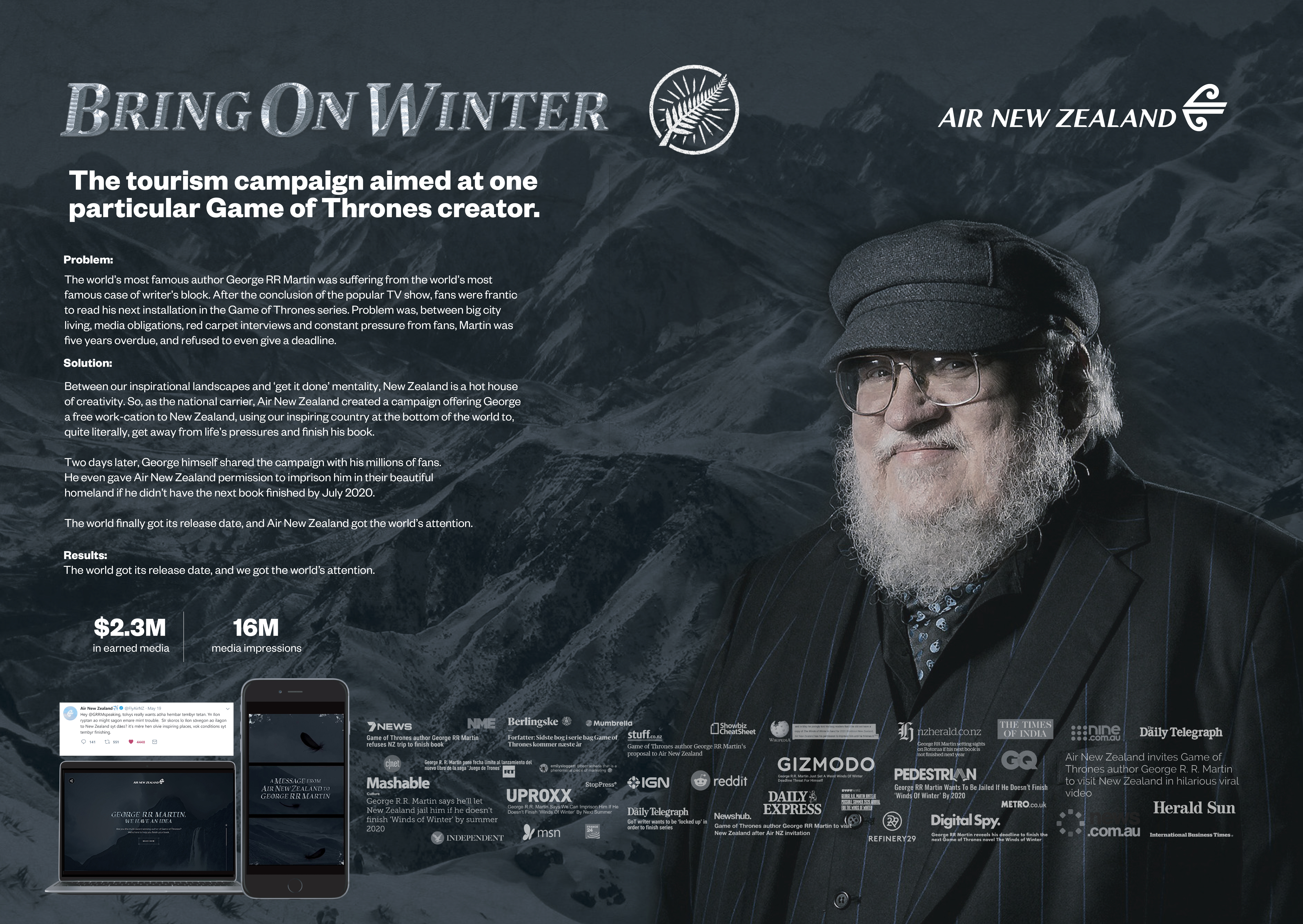 Air NZ - Bring On Winter-support