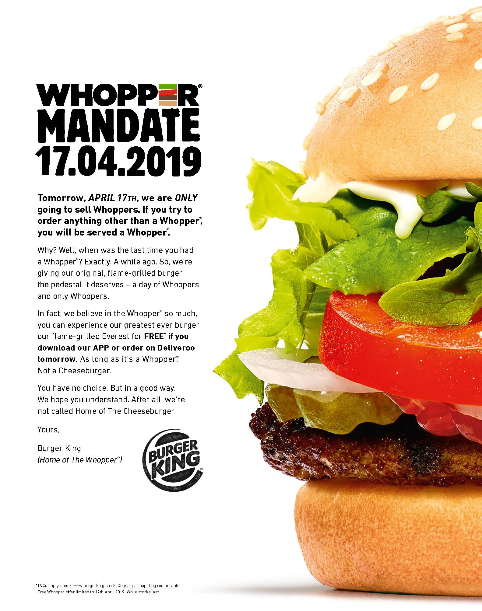 Whopper Mandate-support
