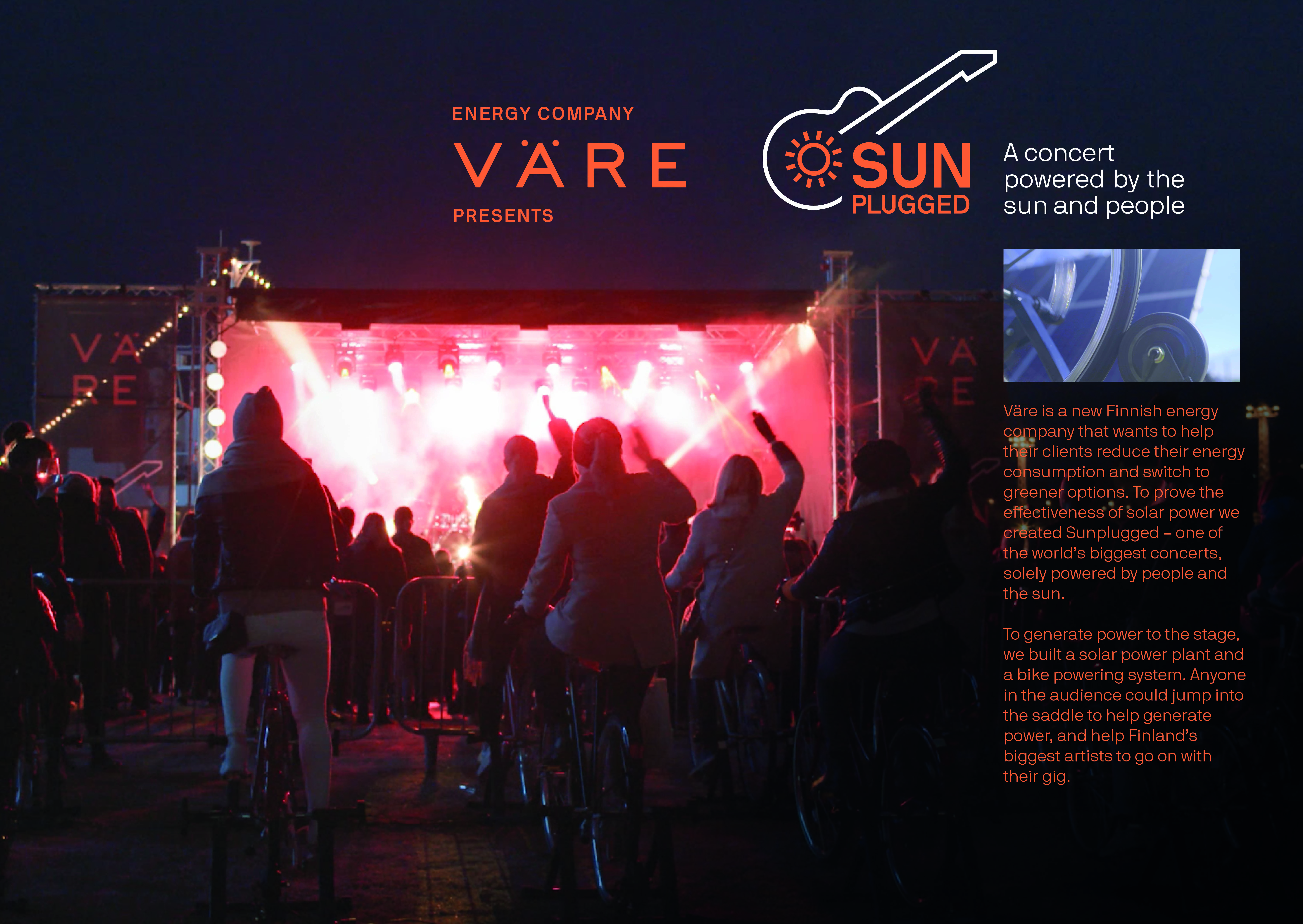 Sunplugged – Concert powered by the sun and audience-support