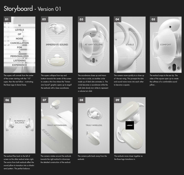 Bose QuietComfort Earbuds - Storyboard