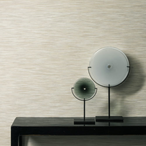 Close up of EGA5202, Elegance wallcovering by Omexco. Two round glass discs are interesting artworks in this picture.
