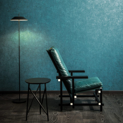 Vivid emerald green: Kaleidoscope wallcovering by Omexco.