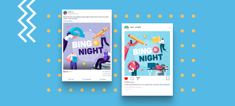 Social Media Bingo Night Header