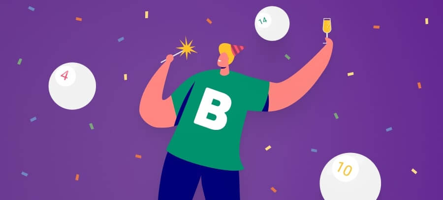 Zoom bingo winner with friends