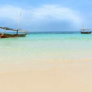 Dhow boats, Mnemba Island, Indian Ocean
