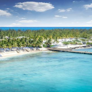 Aerial view of Grand Turk