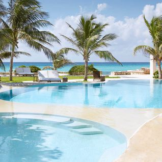 The pool at Viceroy Riviera Maya, luxury hotel in Mexico