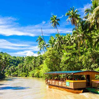 Boat on the Loboc river, Bohol Island