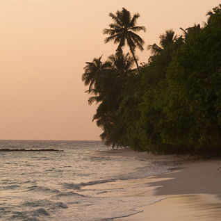 Baa Atoll at sunset