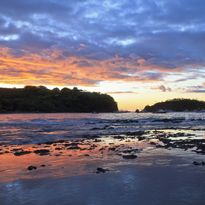 Papagayo Beach and Boats at Sunset, Costa Rica