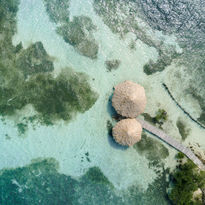 Aerial Thatch Caye Belize